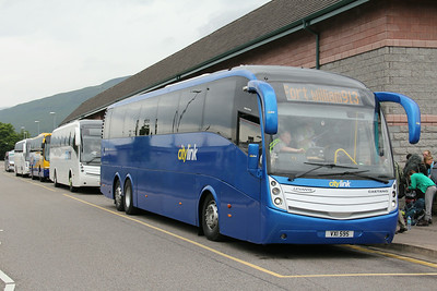 Bruce Salsburgh VXI595 and line up An Aird Fort William Jul 14