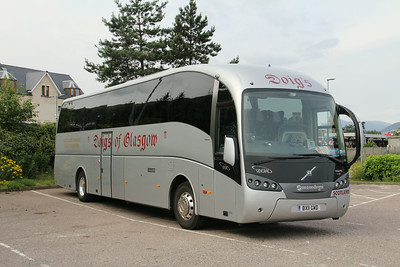 Doig Glasgow BX11GWD An Aird Coach Park Fort William Jul 14