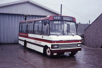 Anns Coaches Kirkintilloch LSO83P Depot Kirkintilloch Feb 89