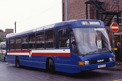 Wright Wrexham H512YCX Chester Bus Station Sep 91