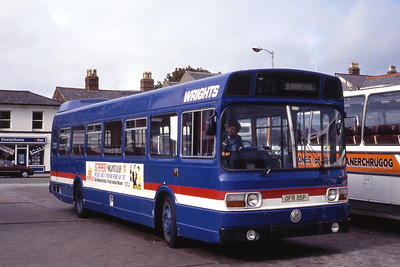 Wright Wrexham OFR115P Wrexham Bus Station Sep 91
