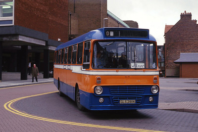 Wright Wrexham GLS281N Chester Bus Station Nov 87