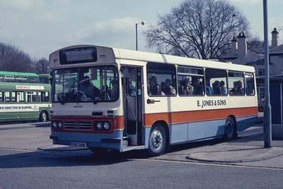Jones Ponciau FBX561W Wrexham Bus Station Apr 87