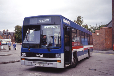 Wright Wrexham F258GWJ Wrexham Bus Station Sep 91