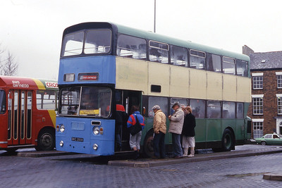 Williams LLanberis BKC286K Caernarfon Bus Station Apr 87