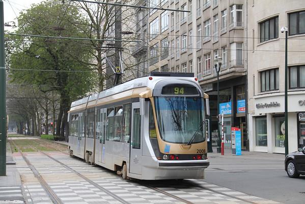 Belgium : Buses, Trams and Trains April 2013.