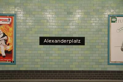 BVG Alexanderplatz Bahnhof Signage Apr 16