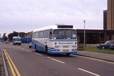 Bus and Coach Rental Dennistoun OSJ617R Raigmore Hospital Invss Sep 89