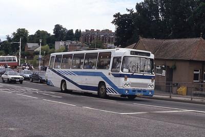 Bus and Coach Rental Dennistoun RCS701R Whitesands Dumfries Jul 91